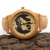 Unisex Watch with natural colored cork wrist strap - Handmade in Portugal. - ECO-ISTS