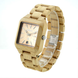 Square Face Wooden Watch, Unisex - ECO-ISTS