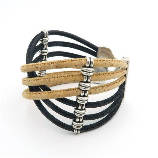 Bohemian Chic Braided Cork Bracelet in Different Colors. Vegan. Cool. Un-cruel. - ECO-ISTS