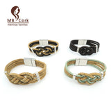 Braided Cork Bracelet in Different Colors. Vegan. Cool. Un-cruel. - ECO-ISTS