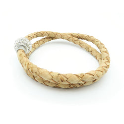 Braided Cork Bracelet with Bling - ECO-ISTS
