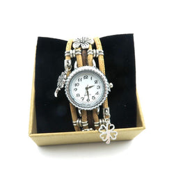 Silver clock on cork strap, with bangles.. Cool and Vegan Ladies watch