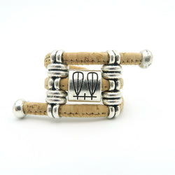 Vegan Ring from Portuguese Cork with Fem Symbol Bead- Vegan apparel that Rocks! - ECO-ISTS
