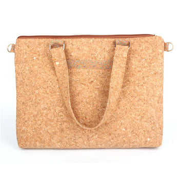 Rectangular flat ladies handbag from Portuguese Cork