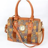 Natural or Bohemian style cork and PU Vegan shoulder bag - ECO-ISTS