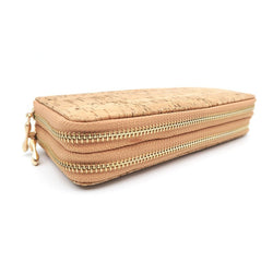 Double Zippered Handmade Wallet for Ladies from Portuguese Cork - ECO-ISTS