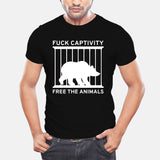 "Unisex T-Shirt ""Fuck Captivity"" - ECO-ISTS"