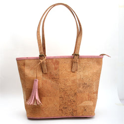 Vegan AF handbag with Pink trimmings - ECO-ISTS