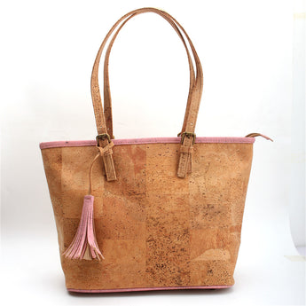 Vegan AF handbag with Pink trimmings
