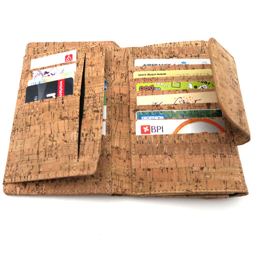 Handmade Vegan Cork ladies wallet, No Dead Animals involved! - ECO-ISTS