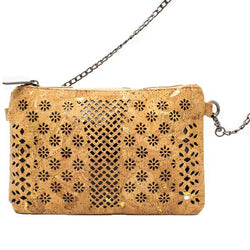 Small handmade cross body bag, laser cut design - ECO-ISTS