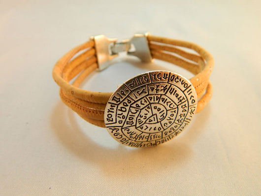 Unisex Bracelet, Handmade from Portuguese cork and with Geometric Design - ECO-ISTS