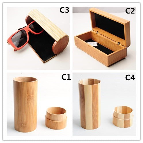 Collection of 4 different Bamboo Cases for your Sunglasses - ECO-ISTS