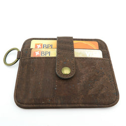 Snap Button Handmade Cork Wallet for Men
