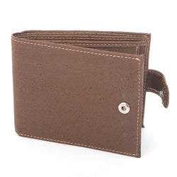 Dark Brown Vegan Leather Men's Wallet