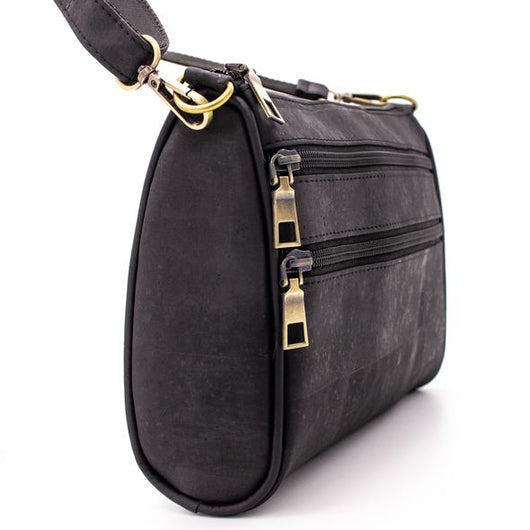 Darkbrown handmade cross body bag, a casual vegan leather bag - ECO-ISTS