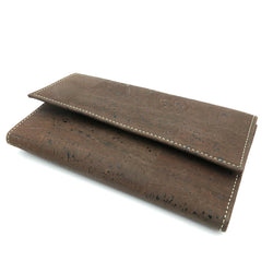 Natural cork wallet for ladies, vegan and handmade in casual brown and blue From Portugal - ECO-ISTS