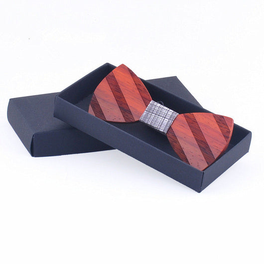 Wooden Bow Tie Novelty Men's Gifts Fashion Wedding Wood Tuxed Bowtie Necktie WLL9224-1 TO WLL9224-20 - ECO-ISTS