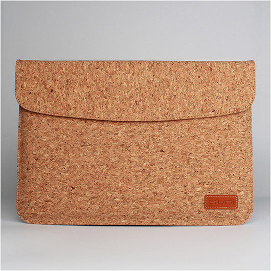 Tablet Pouch Bag For Huawei Mate Book made entirely out of Soft Cork- 12 Inch + Charger Bag - ECO-ISTS