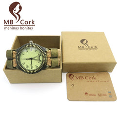 Wooden Watch with Cork Band