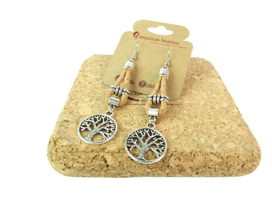 Cork Earrings With Tree of Life - ECO-ISTS