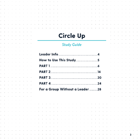Circle Up Study Guide
