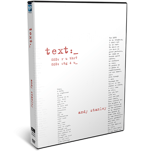 Text DVD Message series by Andy Stanley