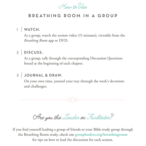 Breathing Room: A 28-Day Devotional for Women by Sandra Stanley How to Use