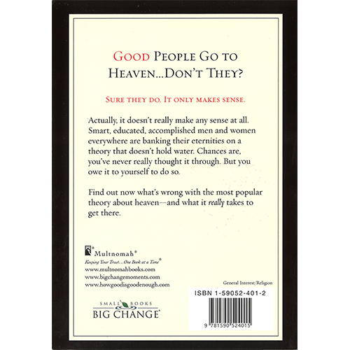 How Good Is Good Enough? 6 Paperback Book Bundle by Andy Stanley Back Cover