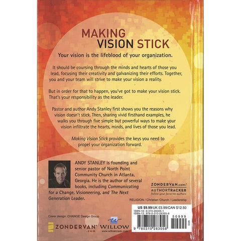Making Vision Stick Hardcover Book by Andy Stanley