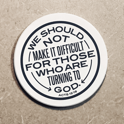 Acts 15:19 Coaster
