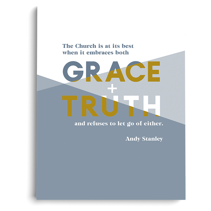 "Grace and Truth Art Print (5"" x 7"")"
