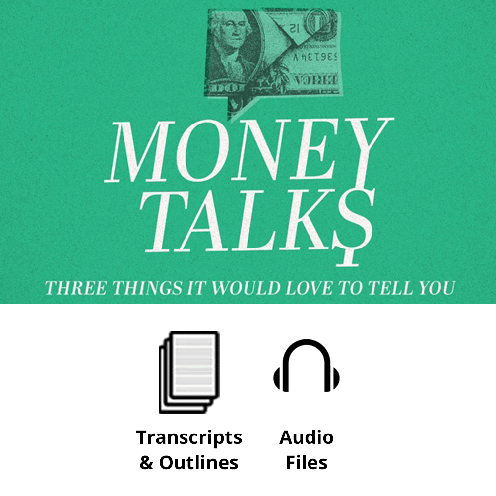 Money Talks Basic Sermon Kit | 3-Part