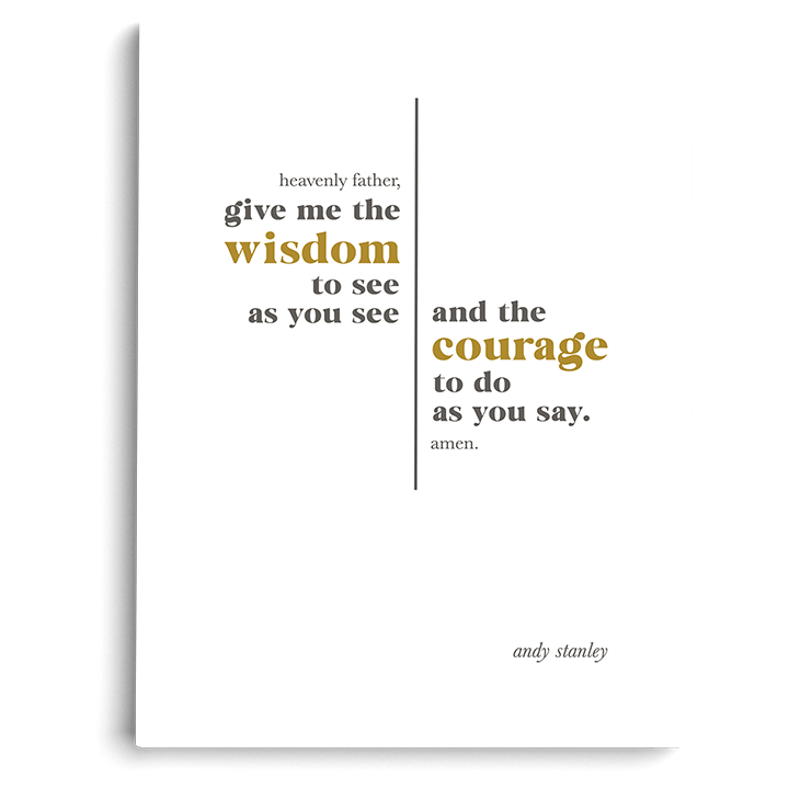 "Wisdom and Courage Art Print (5"" x 7"")"