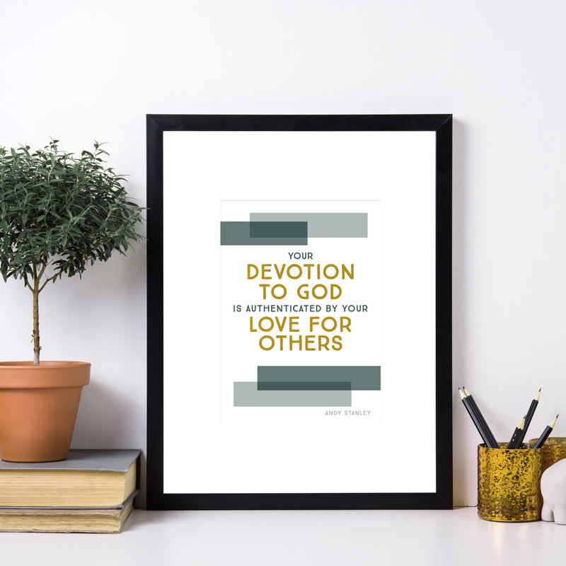 "Devotion to God Art Print (5"" x 7"")"
