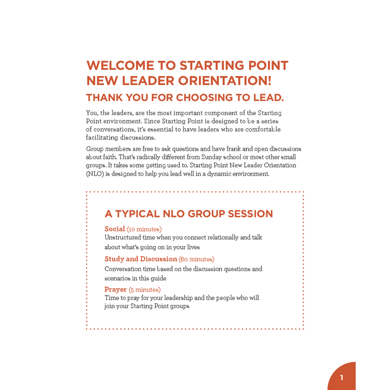 Starting Point New Leader Orientation Guide