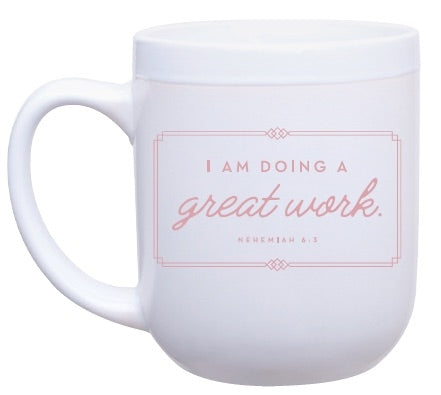 Breathing Room 28-day Devotion by Sandra Stanley White Ceramic Mug