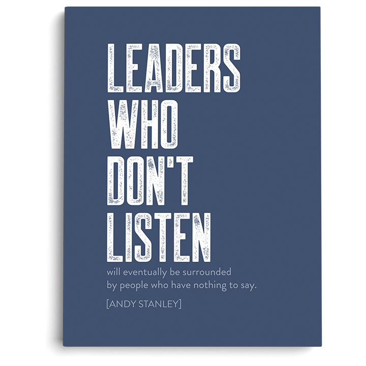 "Leaders Who Don't Listen Art Print (5"" x 7"")"