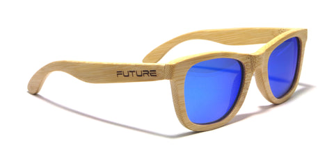 Full Bamboo & Polarized Cobalt Blue
