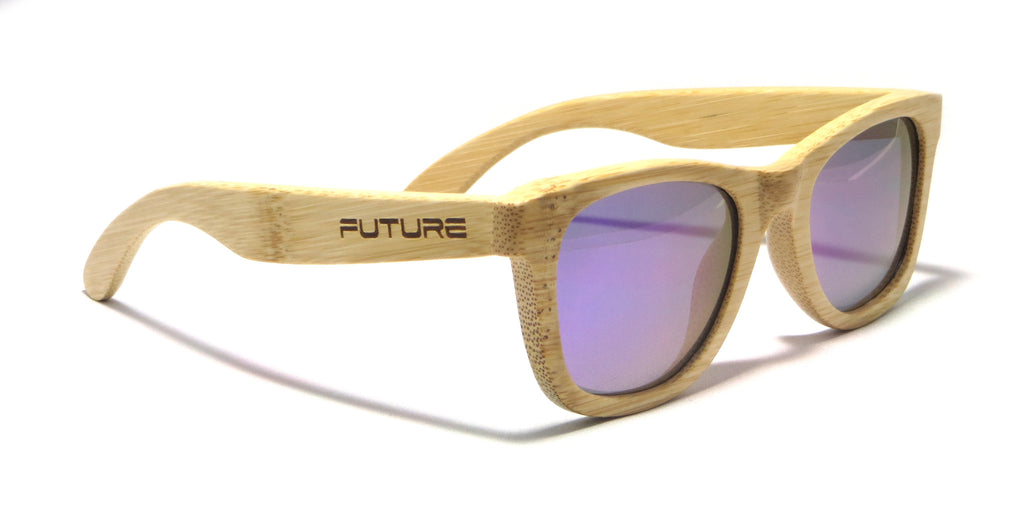 Full Bamboo & Polarized Orion Purple - Future-Wear - Carbon Sunglasses