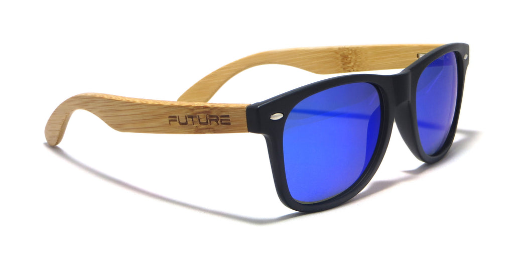 Black & Polarized Cobalt Blue - Future Originals - Future-Wear - Carbon Sunglasses