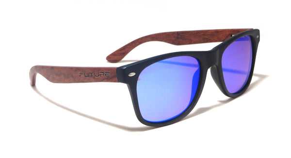 Rosewood / Black & Polarized Cobalt Blue