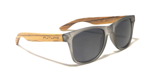 Zebra Wood / Frosted Black & Polarized Midnight Black - Future-Wear - Carbon Sunglasses