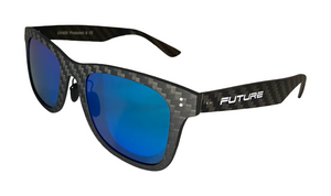 Full Carbon Fibre Sunglasses | Polarised Sky Blue