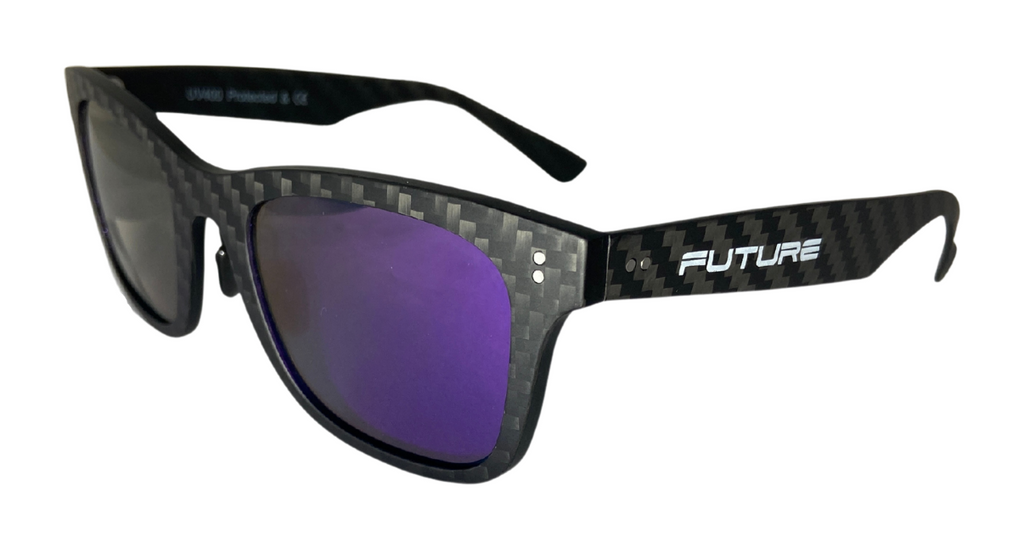 Full Carbon Fibre Sunglasses | Polarised Orion Purple