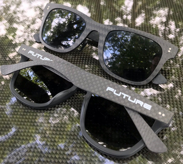 Full Carbon Fibre Sunglasses | Polarised Midnight Black