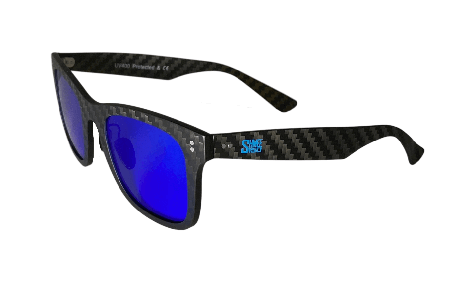 Shmee150 Full Carbon Fibre Shades / Polarized Cerulean Blue Lenses - Limited Run