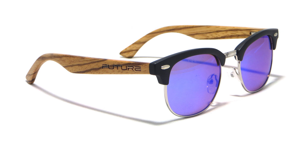 Black & Polarized Amethyst Blue - Future Timeless - Future-Wear - Carbon Sunglasses