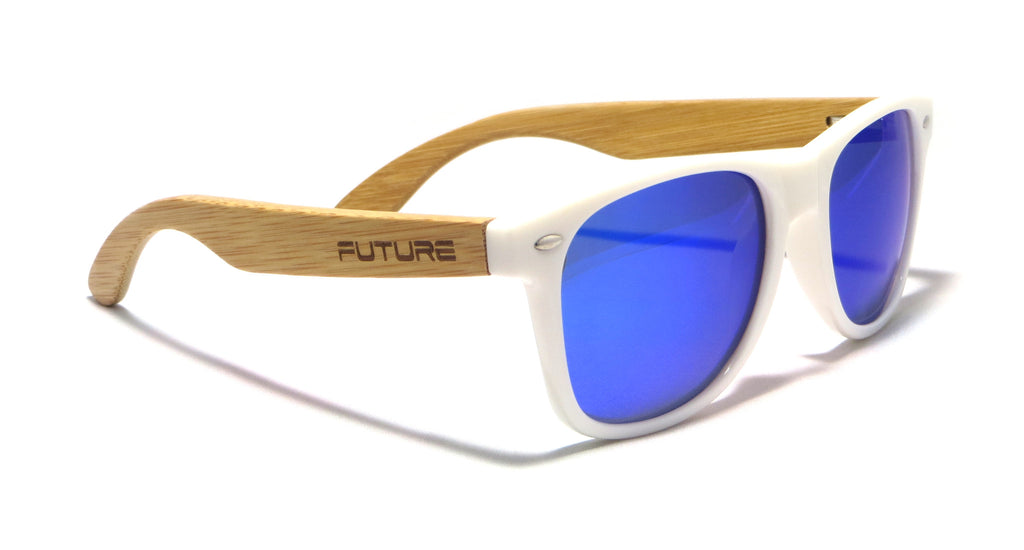 White & Polarized Cobalt Blue - Future Originals - Future-Wear - Carbon Sunglasses