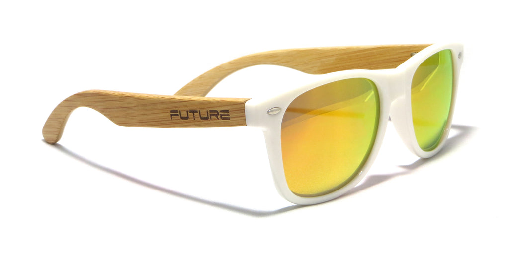White & Polarized Fire - Future Originals - Future-Wear - Carbon Sunglasses